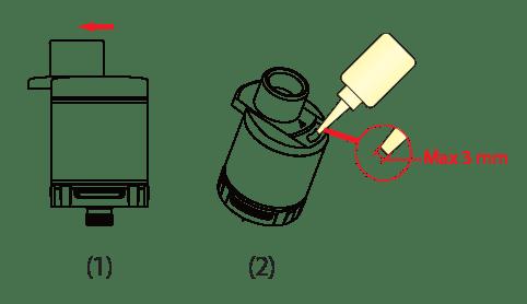 nhoss pulsar remplissage de e-liquide