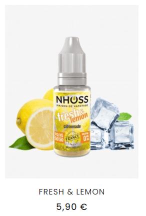 e-liquide citron frais
