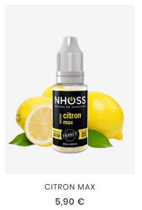 e liquide citron