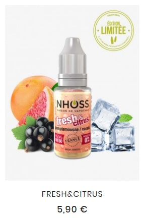 e-liquide fresh&citrus
