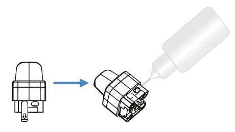 remplissage e-liquide cubeo