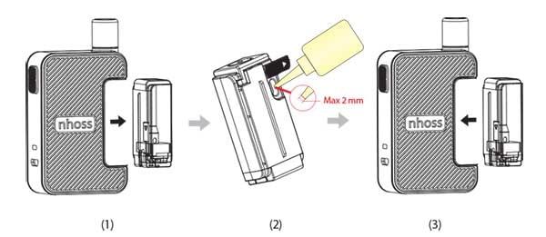 vapoteuse grafik remplissage e-liquide