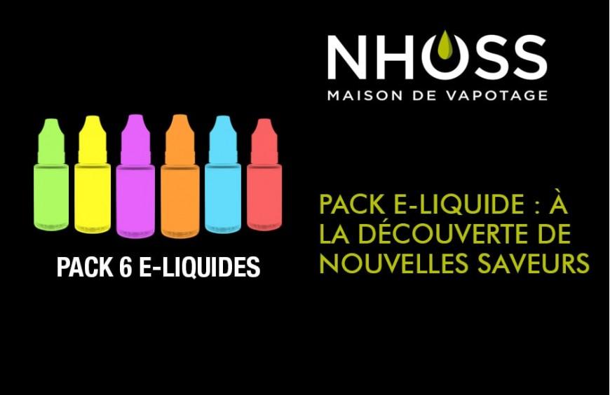 Pack e-liquide : à la découverte de nouvelles saveurs