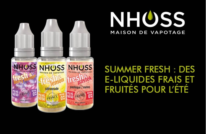 Des e-liquides frais et fruités pour l'été